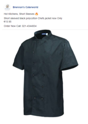 Chef Uniform on Your Favourite Brands & Products -At Brennan's Caterwo
